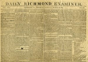 Newspapers in Virginia during the Civil War, Confederate