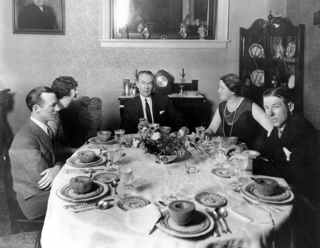 James Branch Cabell and Ellen Glasgow With Friends