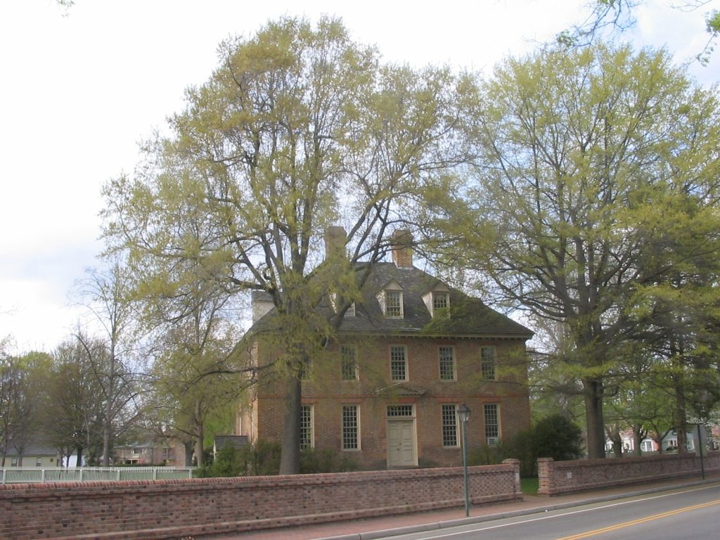 The Brafferton at the College of William and Mary