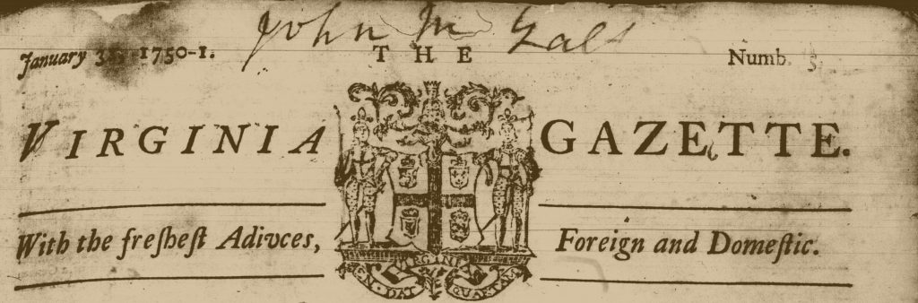William Hunter's Virginia Gazette