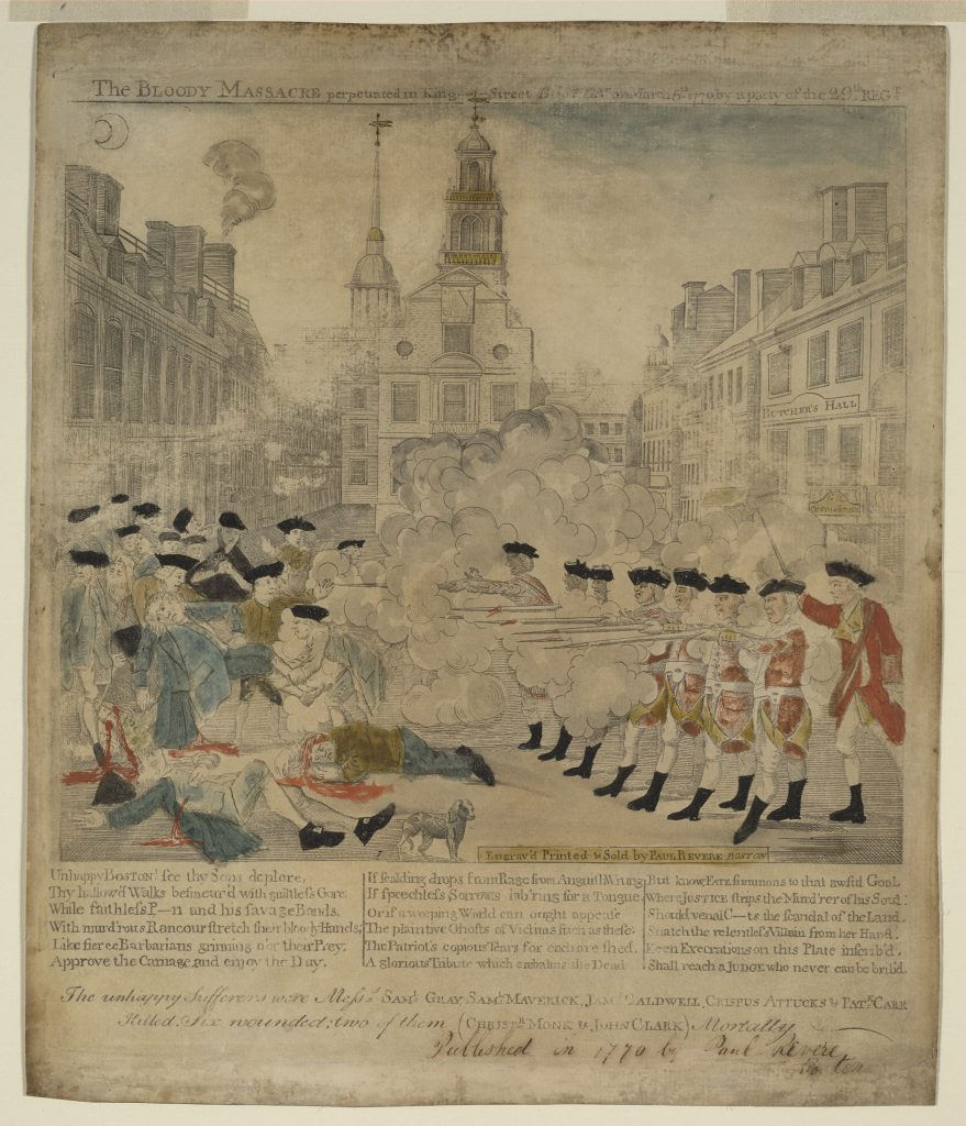 The Bloody Massacre perpetrated in King Street Boston on March 5th 1770