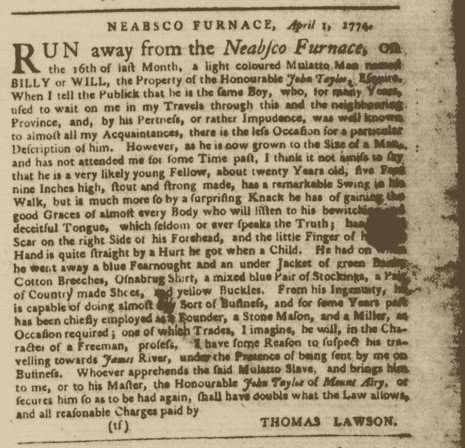 Runaway Slave Billy