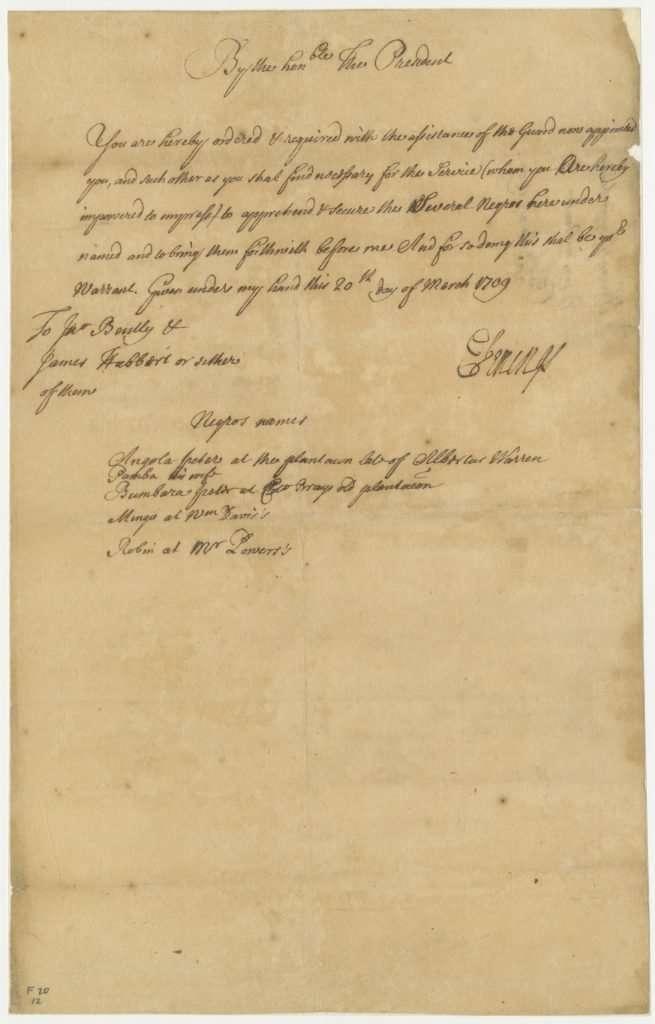 Proclamation from Edmund Jenings