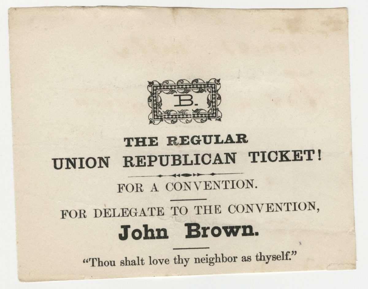 Ballot for John Brown