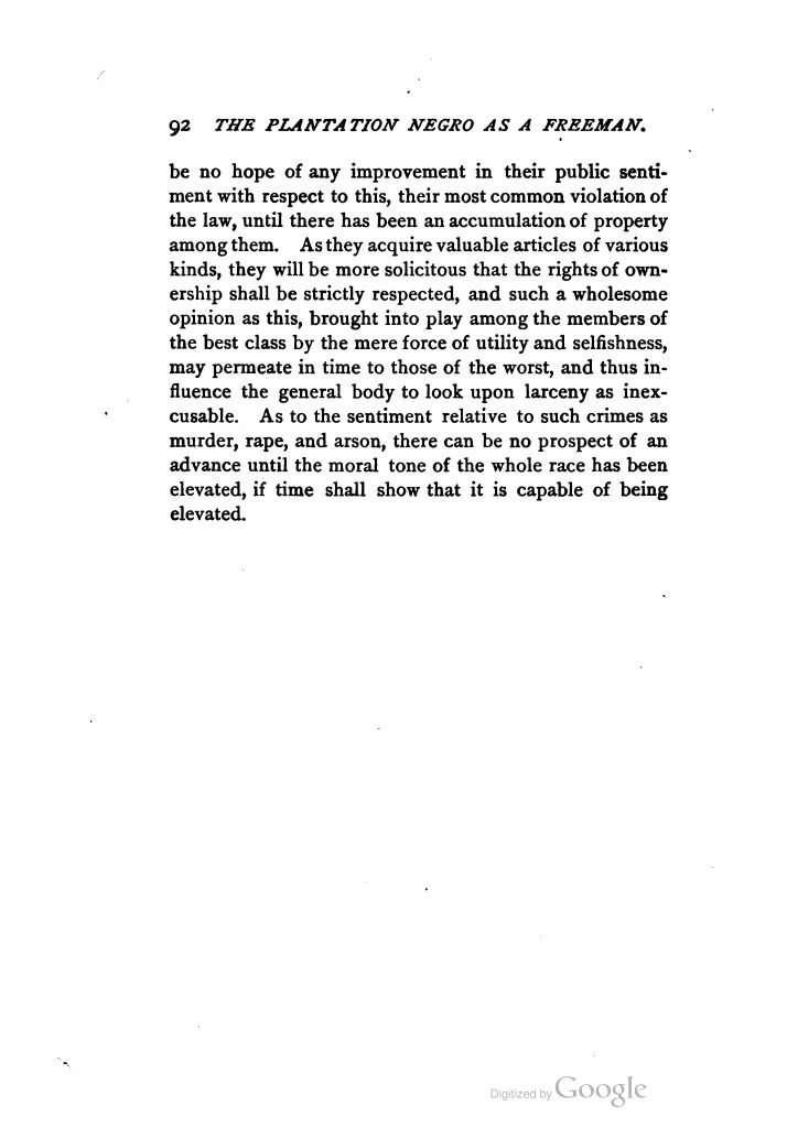 The Plantation Negro as Freeman by Philip Alexander Bruce (1889)