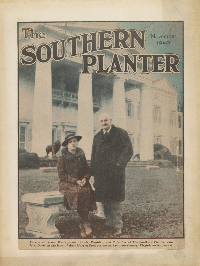 Westmoreland Davis and Marguerite Inman Davis on the Cover of the Southern Planter