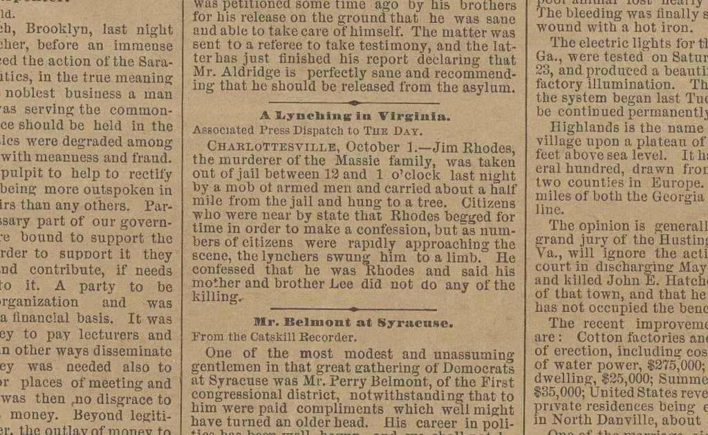 A Lynching in Virginia.