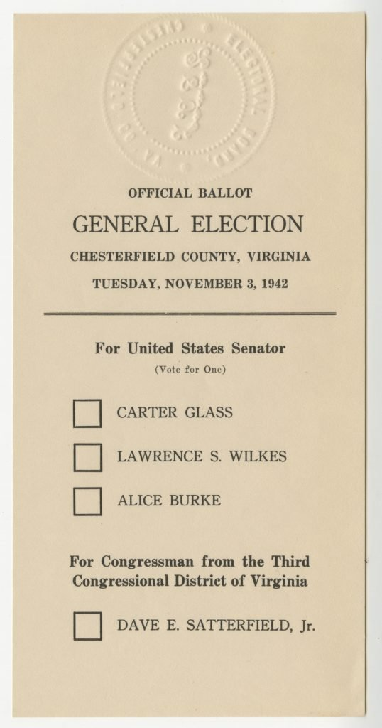1942 Electoral Ballot