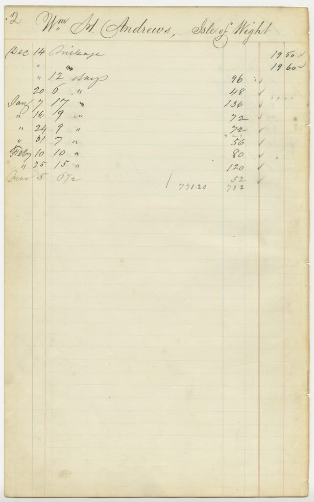 Attendance Book for Constitutional Convention 1867—1868