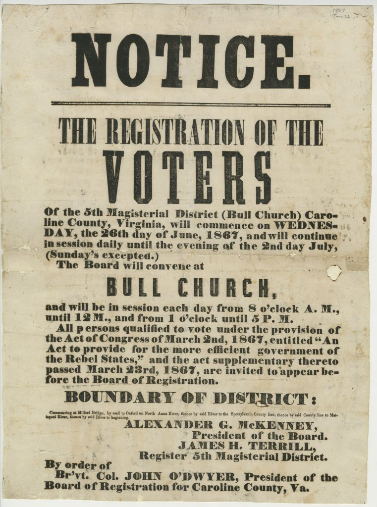 Notice. The Registration of the Voters