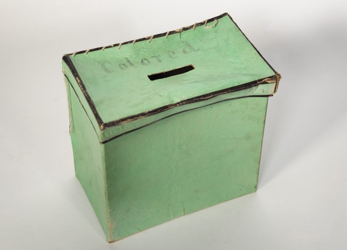 """King George County """"Colored"""" Ballot Box"""