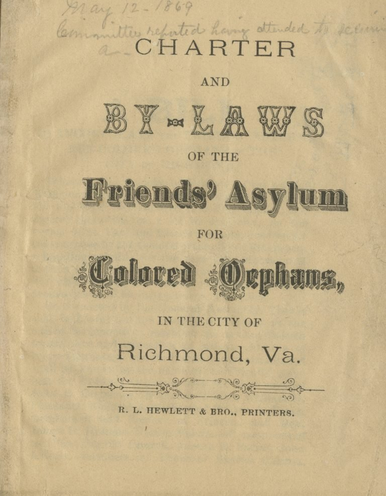 Charter and By-Laws of the Friends' Asylum for Colored Orphans