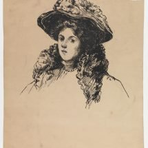 Young Woman in a Flowered Hat