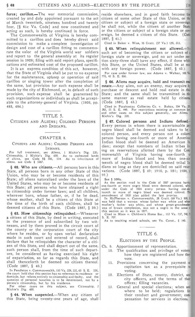 The Code of Virginia as Amended to Adjournment of General Assembly 1930 (1930)