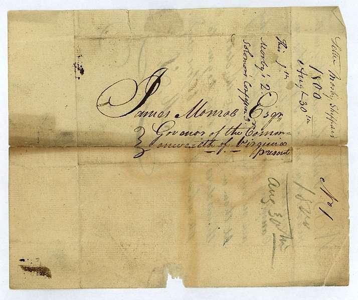 Letter Addressed to Governor James Monroe