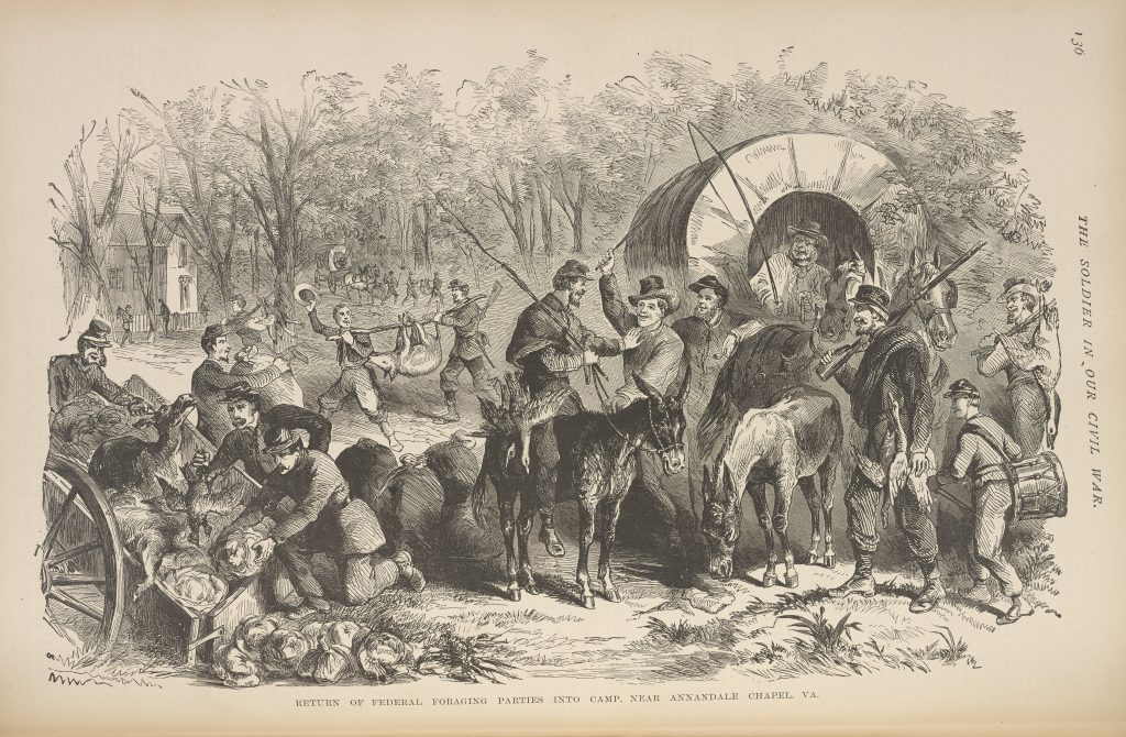 Return of Federal Foraging Parties into Camp