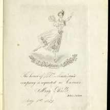 Invitation to Carusi's May Ball 1839