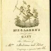 Invitation to Mr. F. C. Labbe's Ball