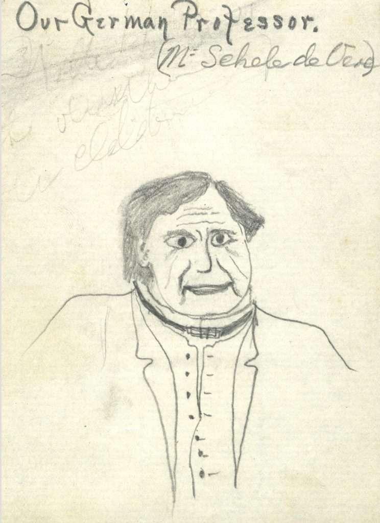 Student Sketch of Professor Maximilian De Vere