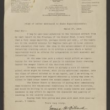 Letter from J. H. Dillard Concerning African American Education