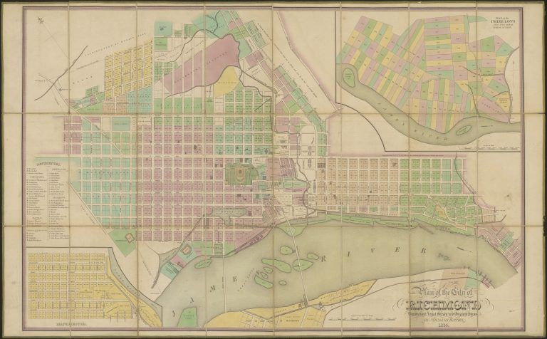 Plan of the City of Richmond Drawn from Actual Survey and Original Plans