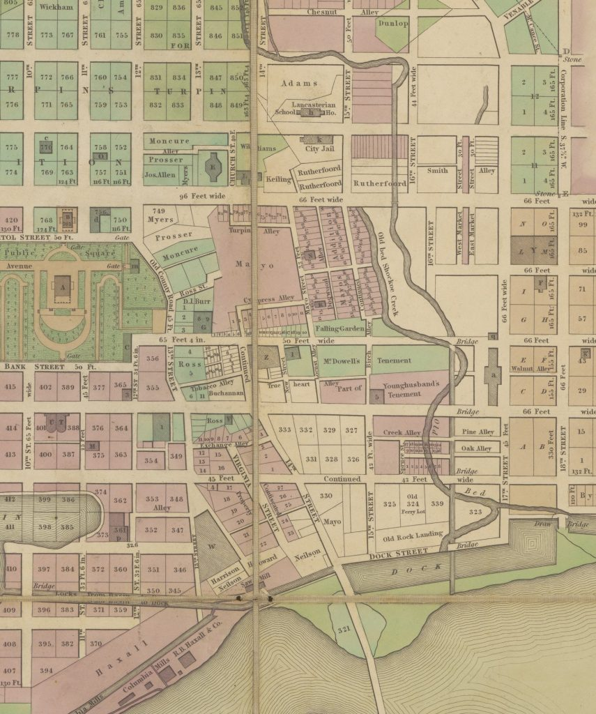 Detail of Plan of the City of Richmond Drawn from Actual Survey and Original Plans
