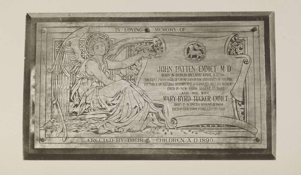 Memorial Plaque for John Patten Emmet