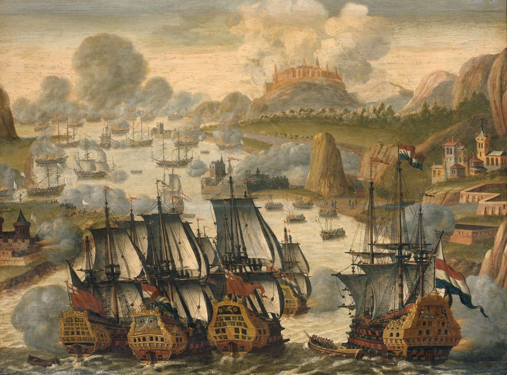 Battle of Vigo Bay during the War of the Spanish Succession