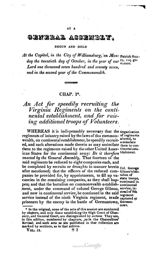The Statutes at Large; Being a Collection of All the Laws of Virginia from the First Session of the Legislature in the Year 1619 (1821)