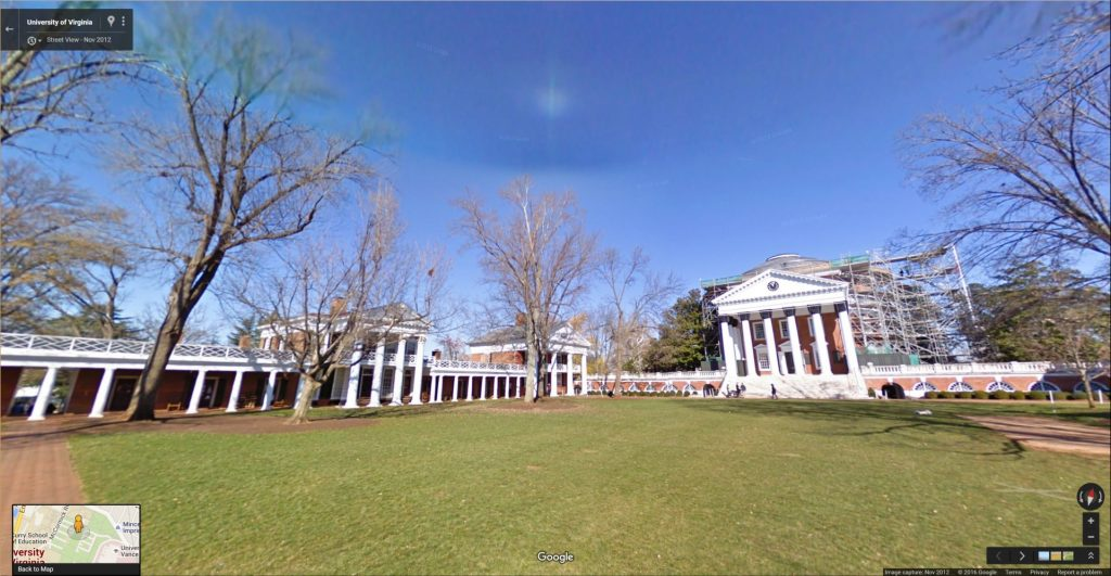 Virtual Tour of the Academical Village at the University of Virginia