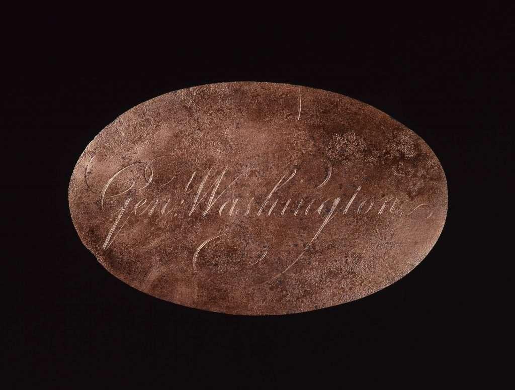 George Washington's Engraved Nameplate