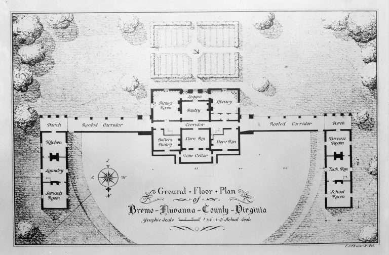 Floor Plan of Bremo
