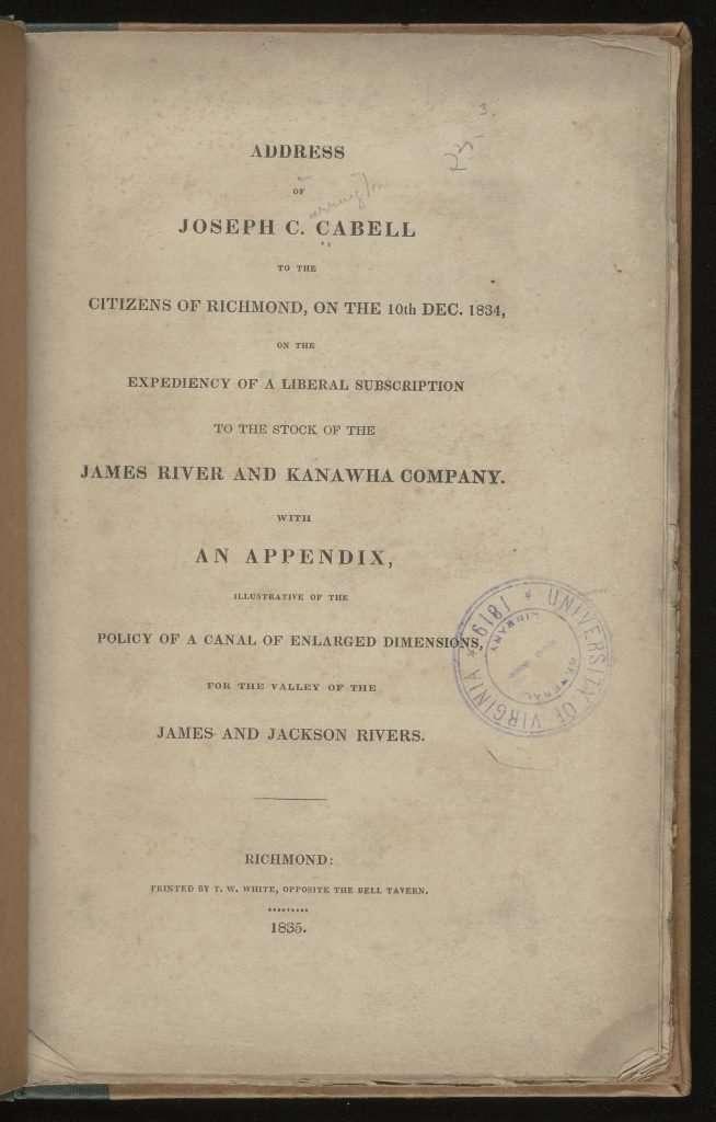 Address of Joseph C. Cabell
