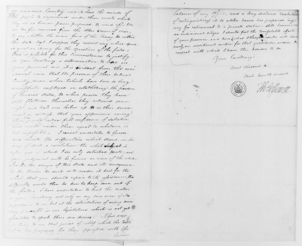 Letter from Thomas Jefferson to George Washington (May 28