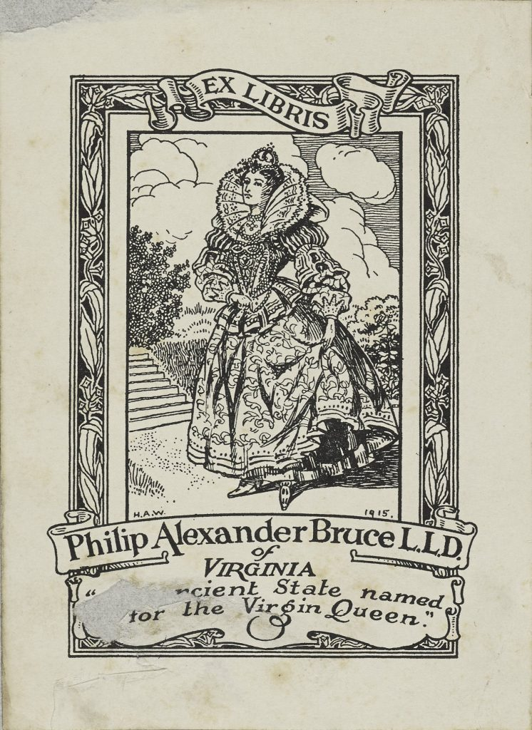 Bookplate Used by Philip Alexander Bruce