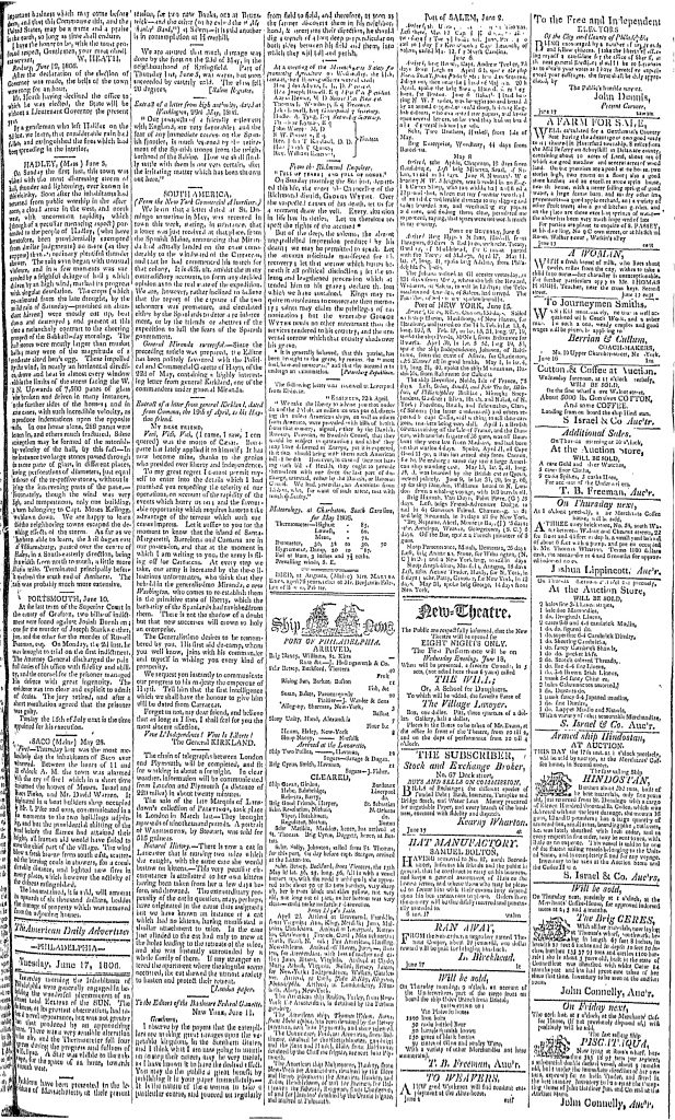 Poulson's American Daily Advertiser (June 17