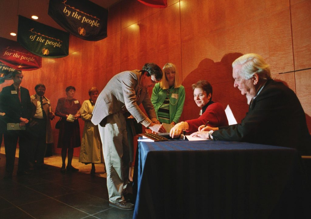 William Styron Signing Books