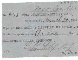 Richmond and Danville Railroad during the Civil War