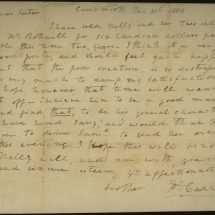 Letter Concerning Slave Sale