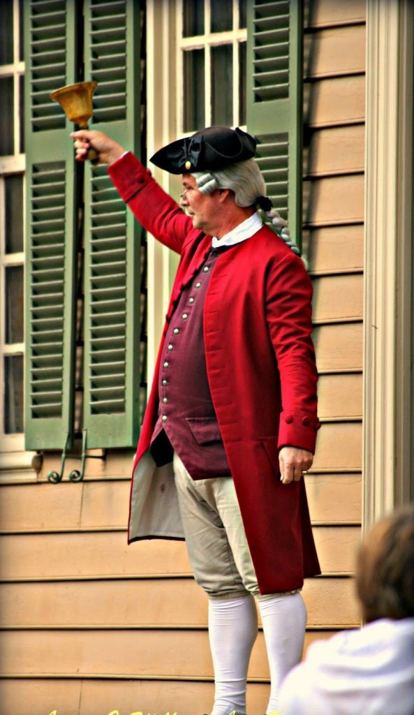 Town Crier in Colonial Williamsburg