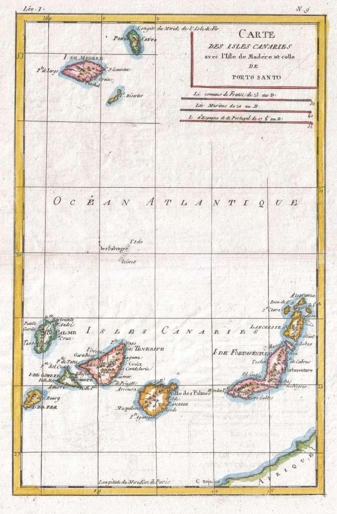 Carte Des Isles Canaries
