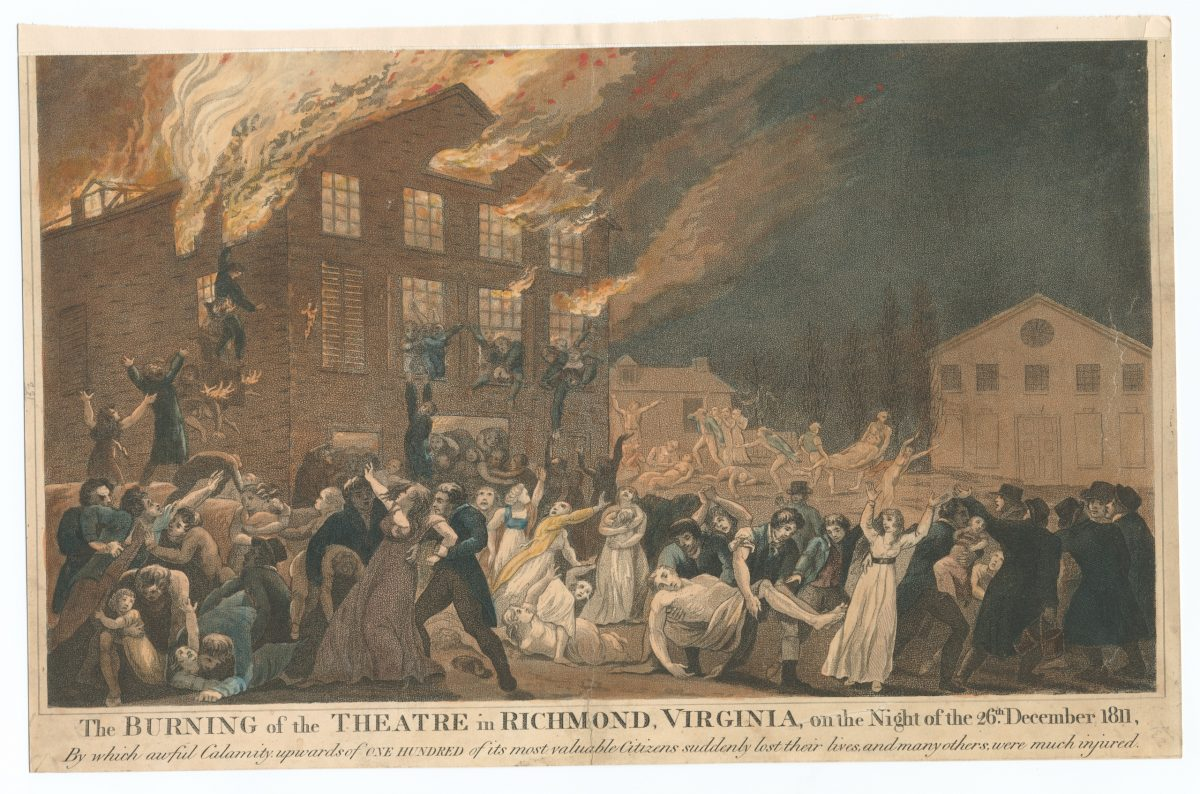 The Burning of the Theatre in Richmond
