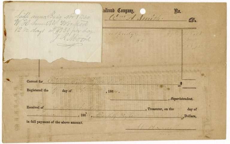 Voucher for Railroad Repairs