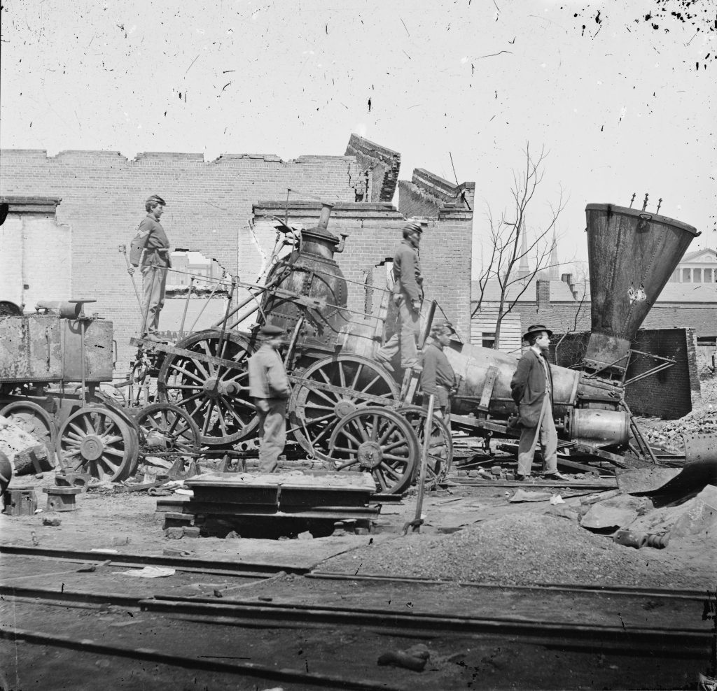 Richmond and Petersburg Railroad Damage