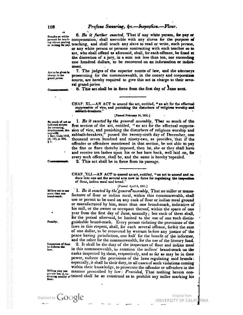 Acts passed at a General Assembly of the Commonwealth of Virginia (1831)