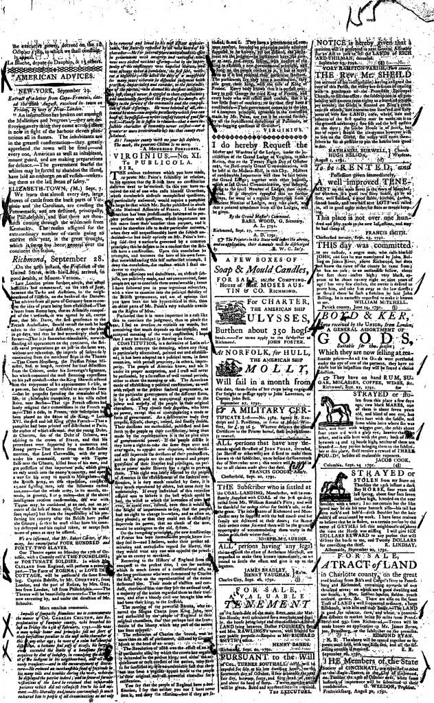 Virginia Gazette and General Advertiser (September 28
