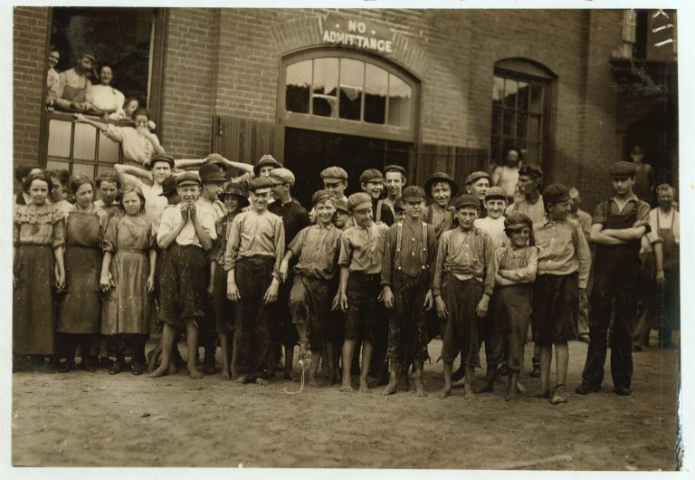 Noon-hour at the Riverside Cotton Mills