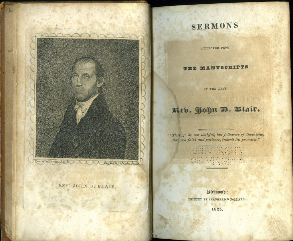 Sermons Collected from the Manuscripts of the Late Rev. John D. Blair.