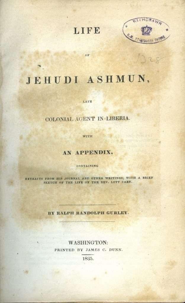 Life of Jehudi Ashmun