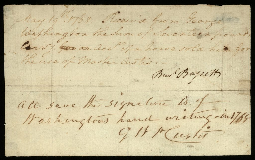 George Washington's Purchase of a Horse